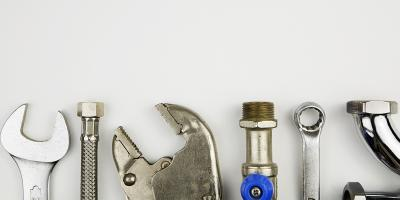 set of tools against white background